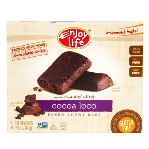 Enjoy Life Chewy Bars Soft Baked Cocoa Loco - 5 CT