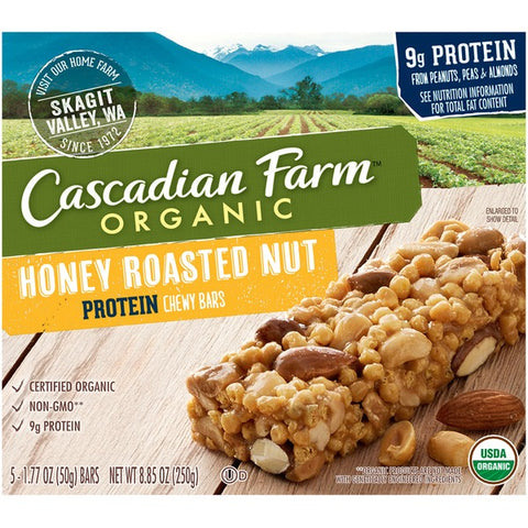 Cascadian Farm Organic Protein Chewy Honey Roasted Nut Granola Bars