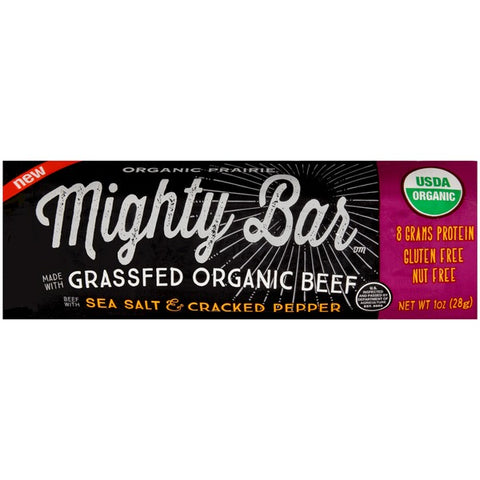 Organic Prairie Mighty Bar Beef with Sea Salt & Cracked Pepper Protein Bar