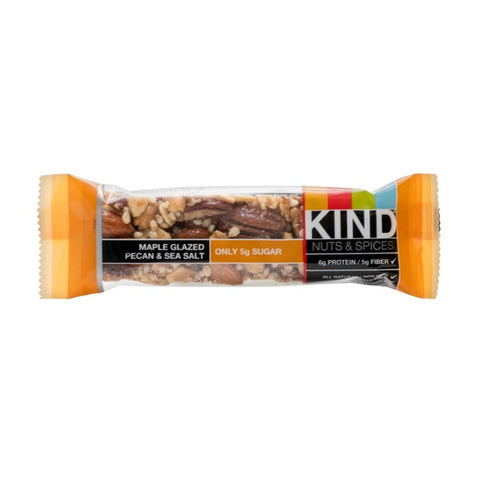 Kind Nuts & Spices Maple Glazed Pecan & Sea Salt Snack Bar
