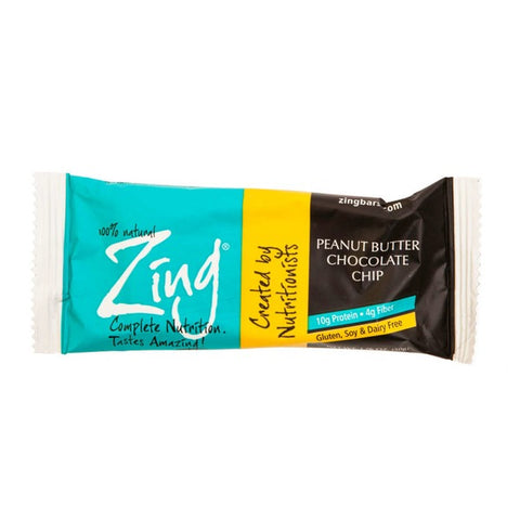 Zing Bars Peanut Butter Chocolate Chip Bar