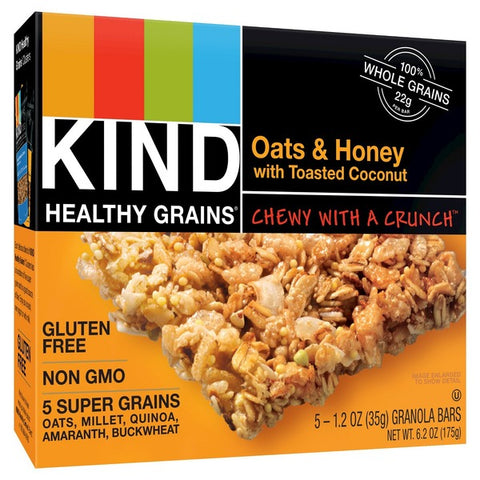 Kind Healthy Grains Oats & Honey with Toasted Coconut Granola Bars