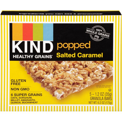 Kind Healthy Grains Popped Salted Caramel Granola Bars