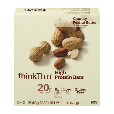 thinkThin High Protein Bars Chunky Peanut Butter - 10 CT
