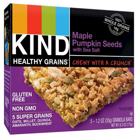 Kind Healthy Grains Maple Pumpkin Seeds with Sea Salt Granola Bars