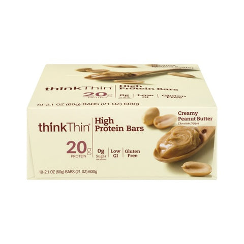 Think Thin High Protein Bars Creamy Peanut Butter - 10 CT