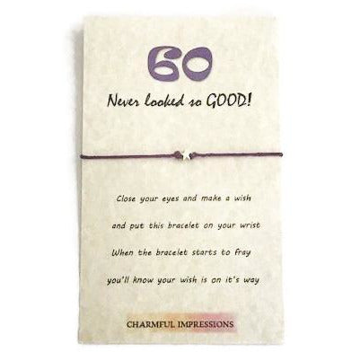 60th birthday wish bracelet - charmful impressions