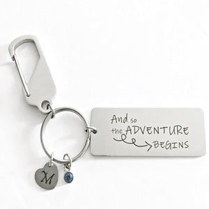 And so the adventure begins keychain- Charmful Impressions