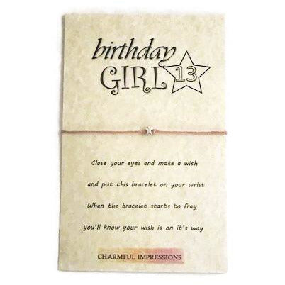 Birthday Girl wish bracelet - Charmful Impressions