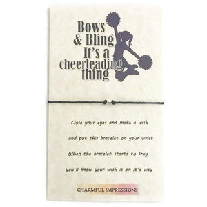 Cheerleading wish bracelet - charmful impressions