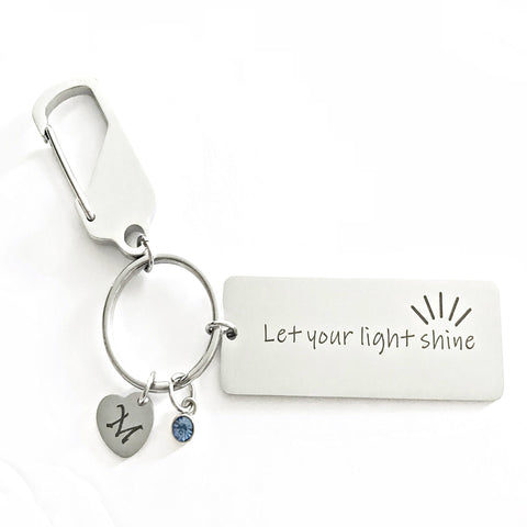 Let your light shine keychain-Charmful Impressions