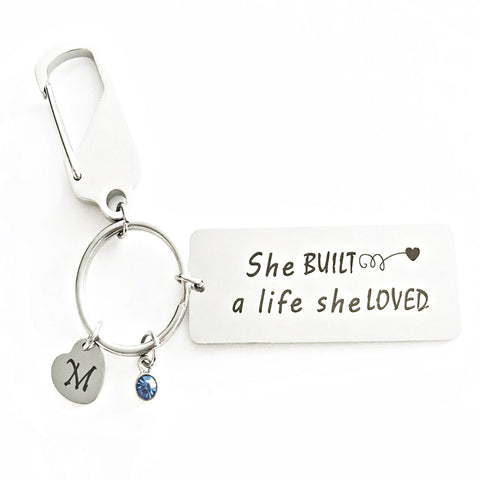 She Built a life she loved keychain - Charmful Impressions