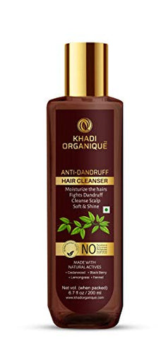 KHADI ORGANIQUE Anti Dandruff Hair Cleanser, 200 ml