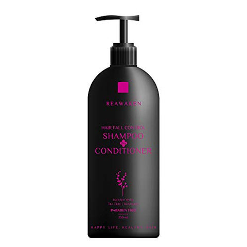 Reawaken Hair Fall Control Shampoo Conditioner Promotes Hair Growth, Reduces Hair Fall, Soothes Scalp, Nourishes & Moisturizes (Pack of 1)