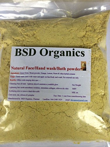 BSD Organics Natural Herbal face wash/bath powder - 400 gms