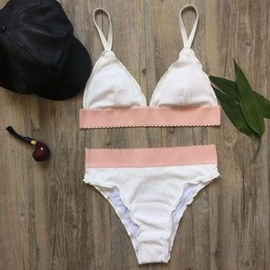 The Reagan Rees White Suit Swimsuit