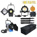 80W LED Spot Light +  100W + 1000W  Tungsten  Fresnel Light Kit