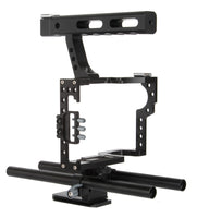 DSLR Stabilizer Kit 15mm Rod Rig Camera Cage + Handle Grip + Follow Focus + Matte Box