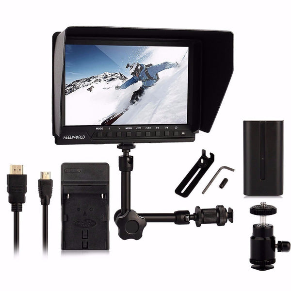 7'' Field MonitorFull HD 1920x1200 1080p + Magic Arm + Battery + Charger