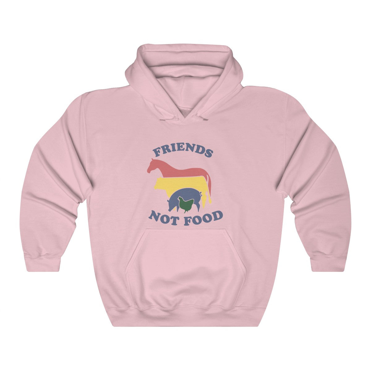 Retro Friends Not Food Unisex Heavy Blend™ Hooded Sweatshirt
