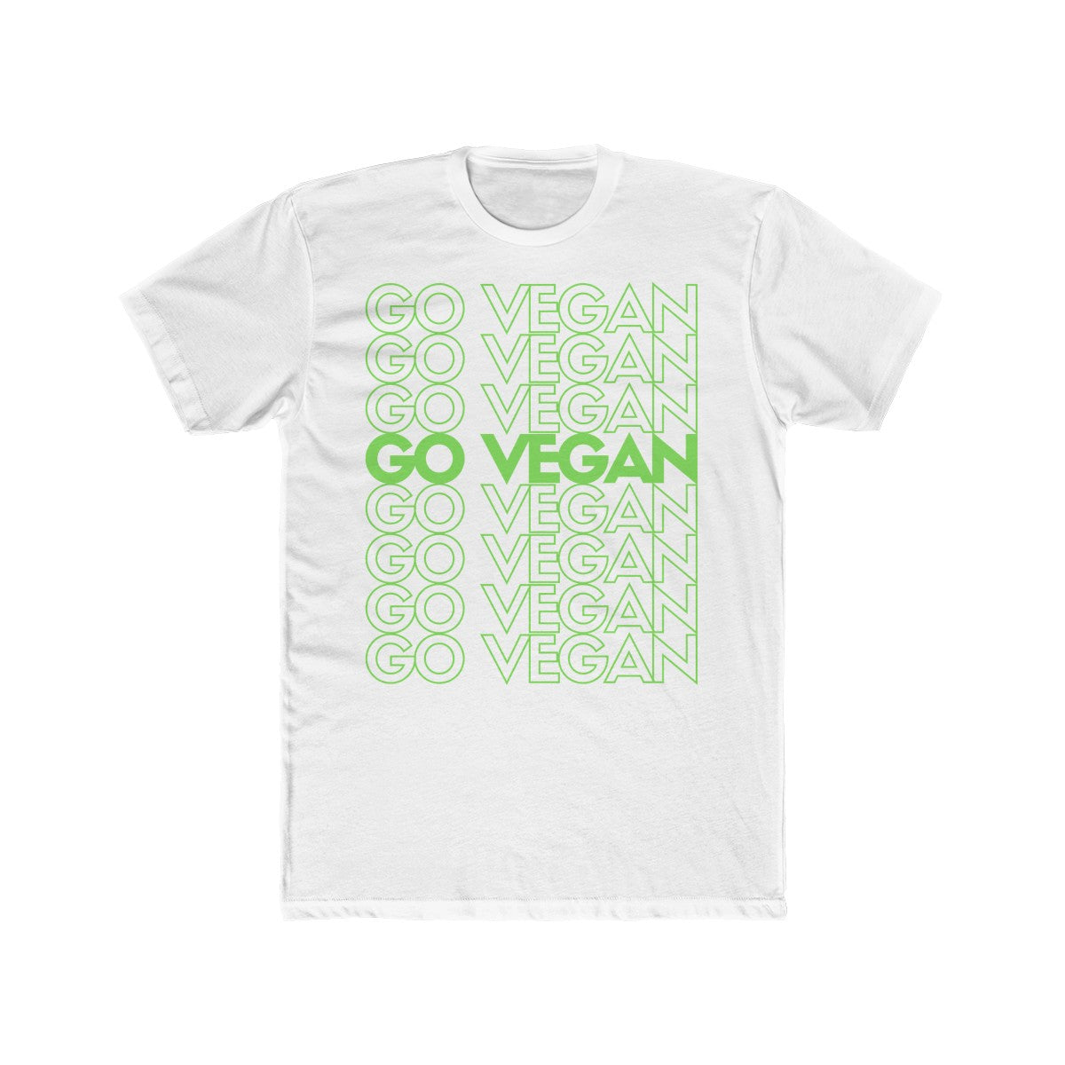 Go Vegan Pattern Cotton Crew Tee