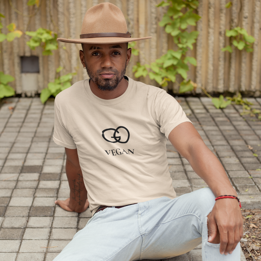 GO VEGAN Stylish Cotton Crew Tee