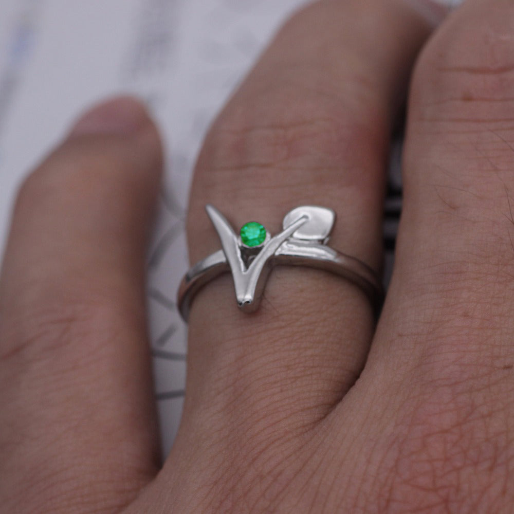 Vegan (V Symbol) Ring