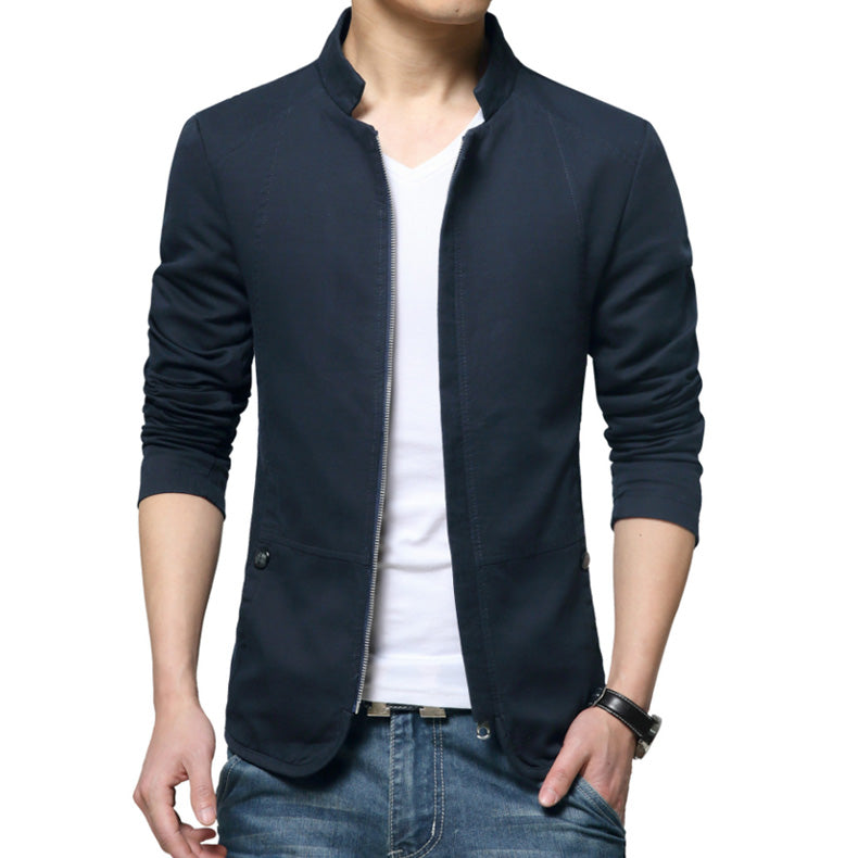 Men's Slim Fit Vegan Leather Jacket