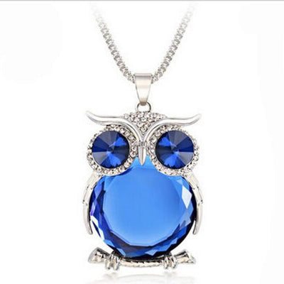Owl Rhinestone Necklace