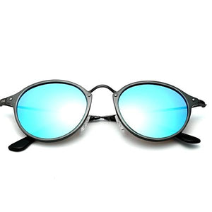 Blue round sunglasses