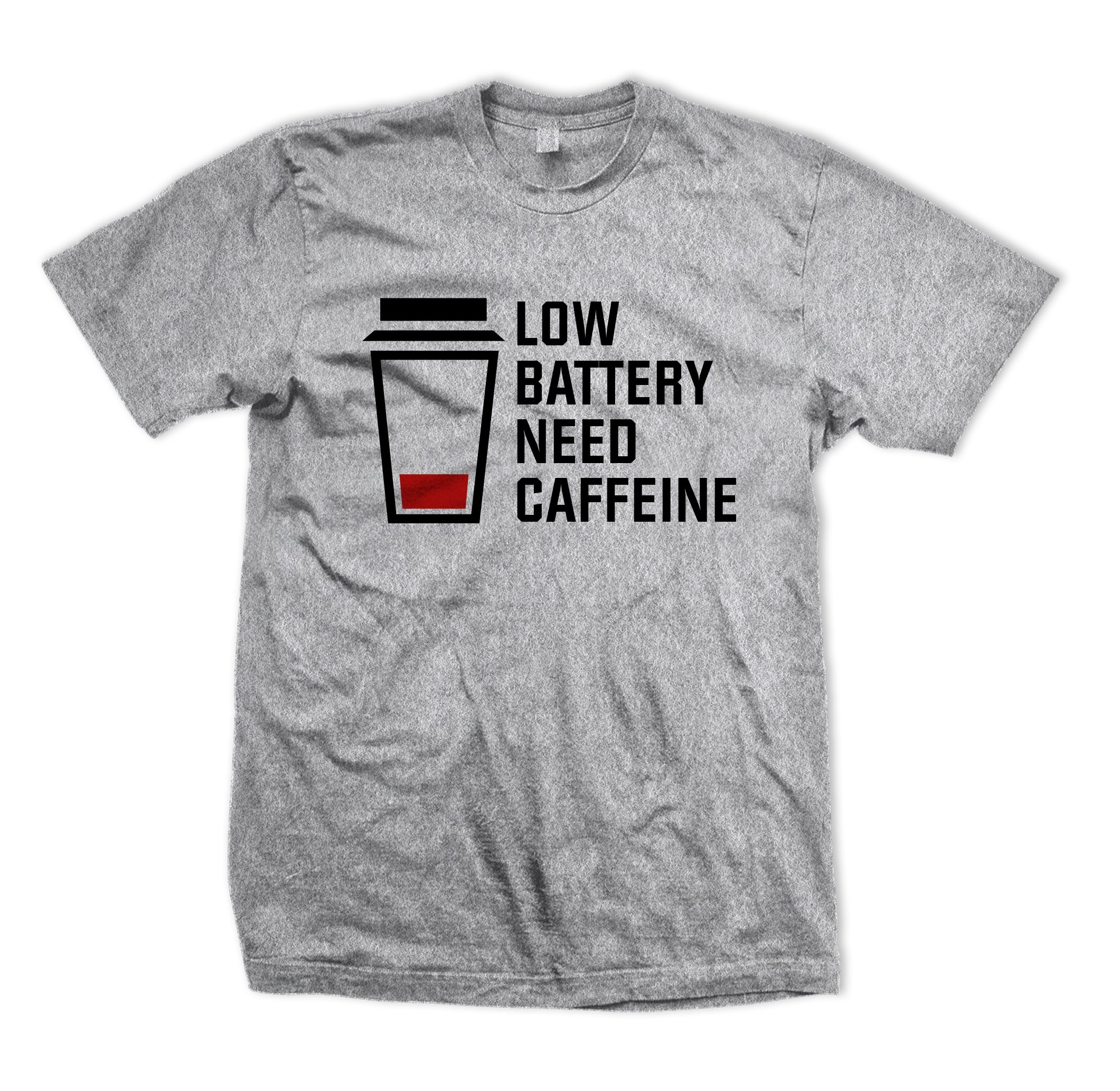 Low Battery Need Caffeine Tee