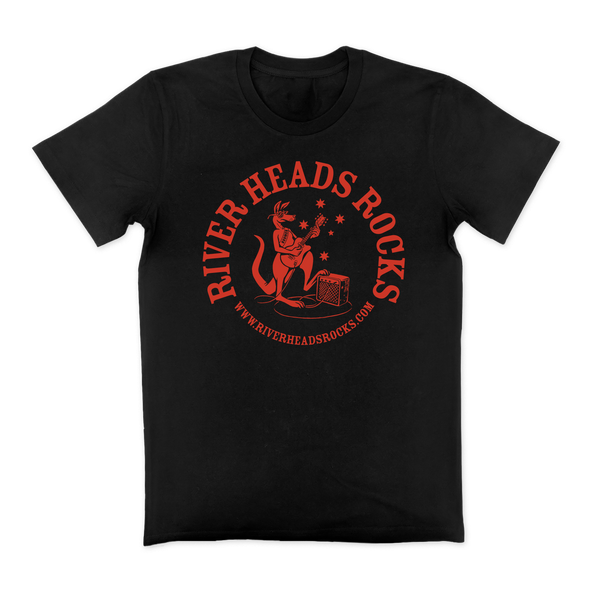 River Heads Rocks Tee - Black