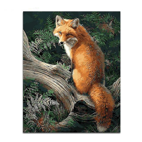 Fox Paint-By-Numbers PaintMe Kit