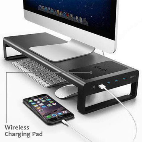 Smart Base 2.0™ - Aluminum Alloy Base Stand with USB 3.0 Ports - Common Bunny