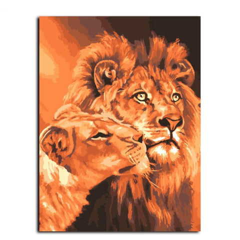 Lion Kings Paint-By-Numbers PaintMe Kit