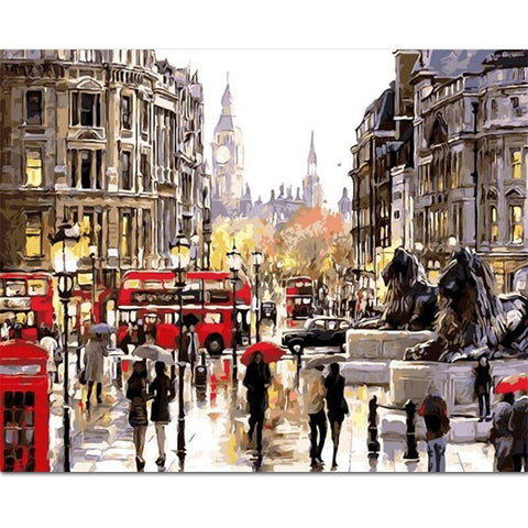 London Street Paint-By-Numbers PaintMe Kit