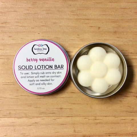 BERRY VANILLA LOTION BAR - Carolina Soap Market