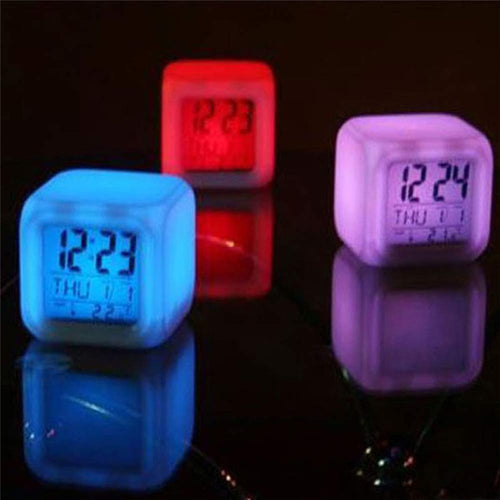 7 Color  Digital Glow in the  Dark Alarm Clock
