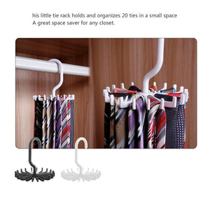 Portable rotating Tie Rack