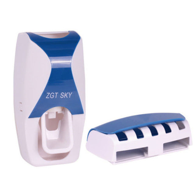Fashion Automatic Toothpaste Dispenser and Toothbrush Holder