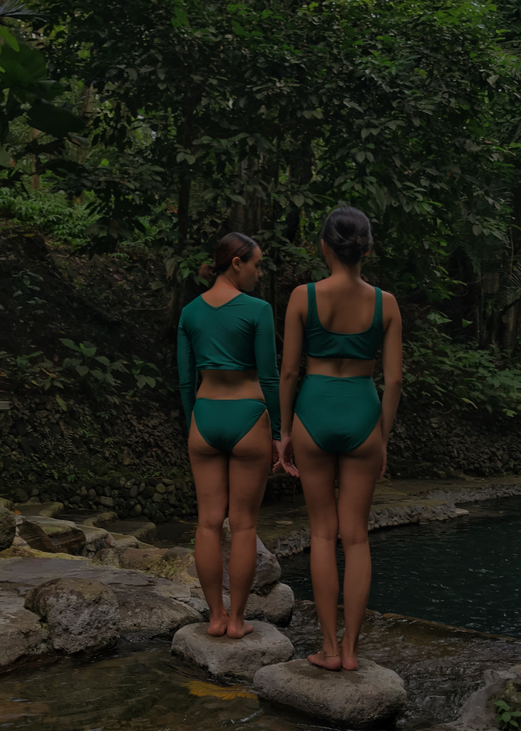 Amaga (High Waist Bottom) in Anahaw Green