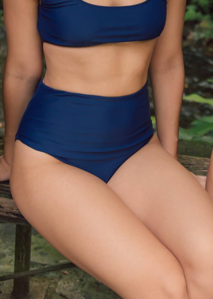 Amaga (High Waist Bottom) in Ocean Surf Blue