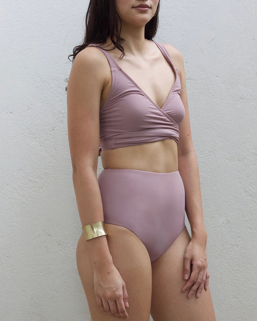 Amaga (High Waist Bottom) in Coral Blush