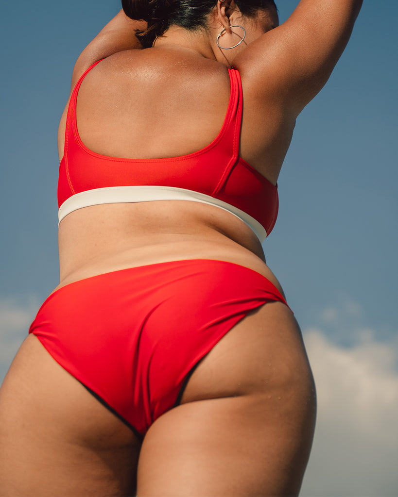 Bani Bikini Bottoms in Scout Red