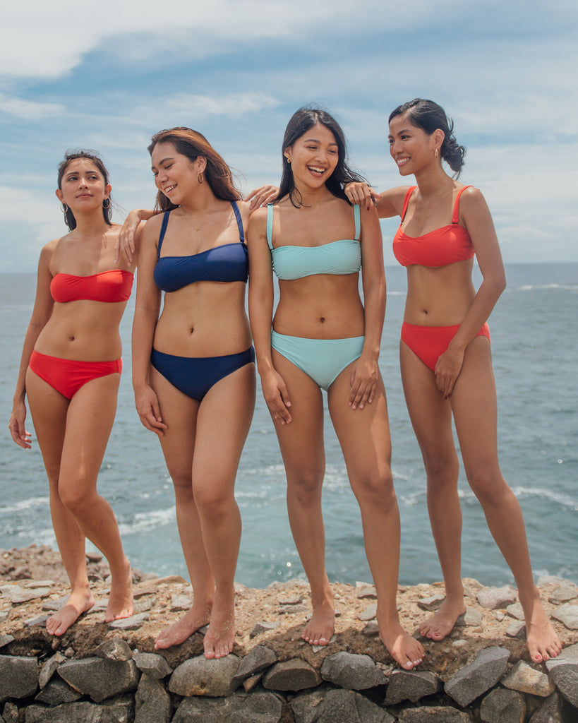 Rasa Bikini Bottom in Ocean Surf Blue