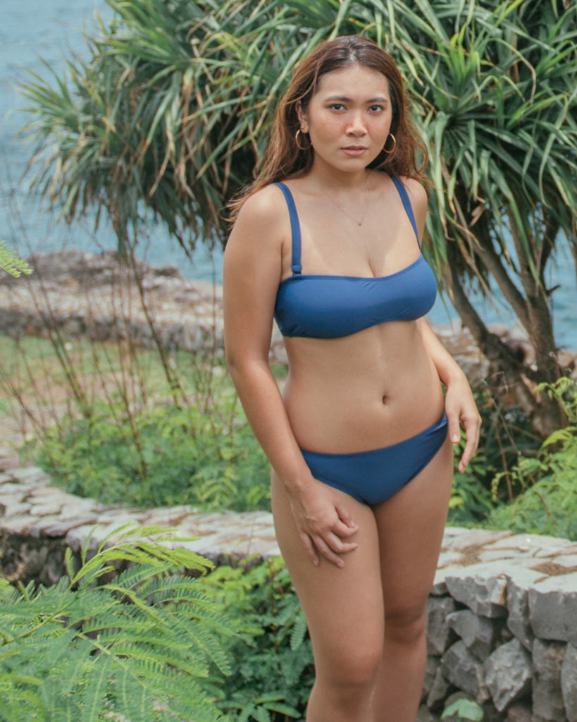 Laja Tube Top in Ocean Surf Blue