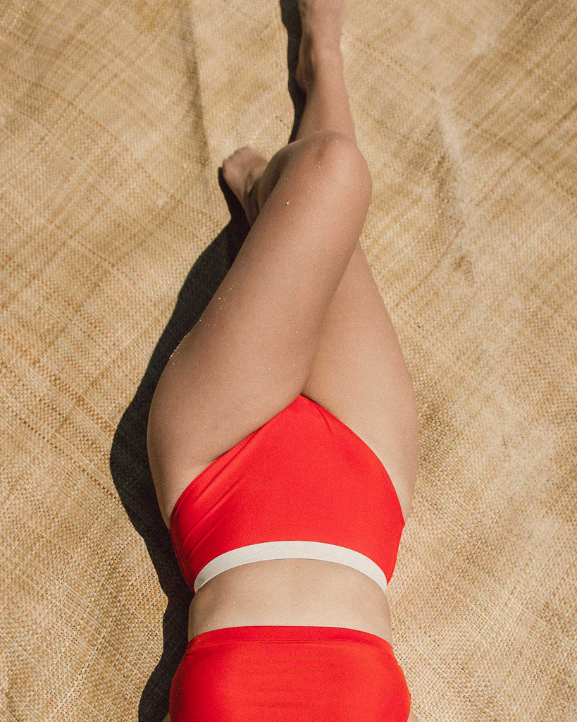 Meara High-Cut Bottoms in Scout Red