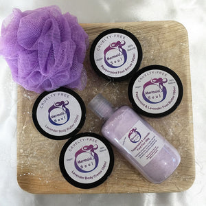 Lavender Lovers Pack - Body Butter, Body Creme, Peppermint & Lavender Foot Trio