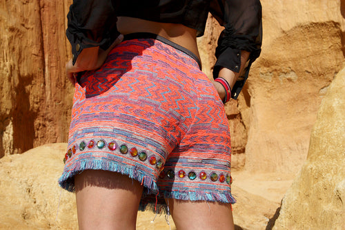 Ride the Fire High Waisted Booty Shorts
