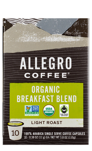 Organic Breakfast Blend single serve capsules